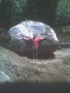 Large Rock Removed From Road During Site Work 2