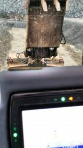 Trimble GPS on Excavator
